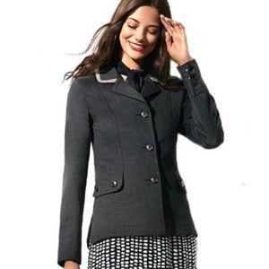 CAbi Grey Knit Ponte Blazer. Style 3030. Size S.